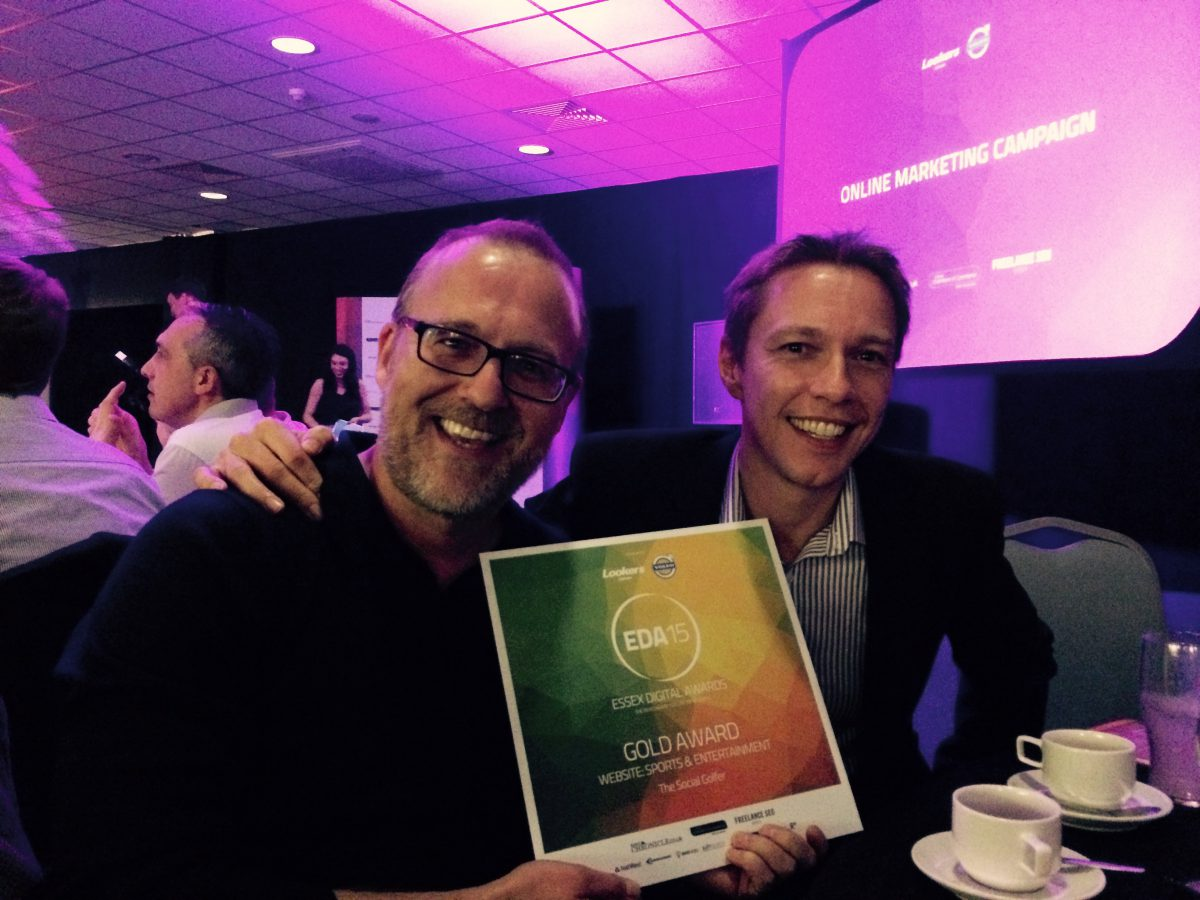 The Social Golfer wins Gold at Essex Digital Awards