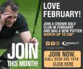Crown Golf Membership - Love Golf This February