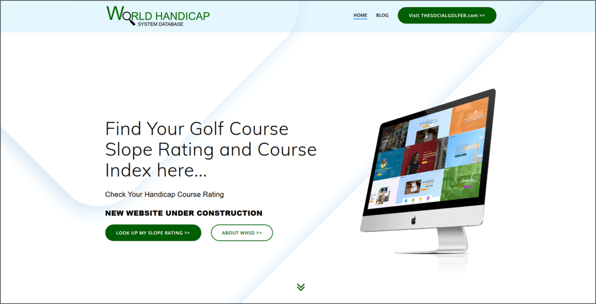 World handicap system database HOME PAGE - WHS Handicap ratings, Course Ratings, look up