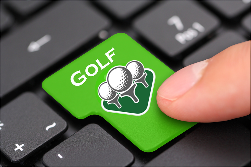 The Social Golfer button