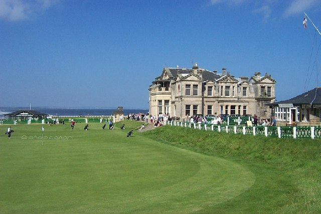 The Open Championship 2015 - 18th_Green_and_Clubhouse St.Andrews