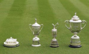 the majors golf trophies 2