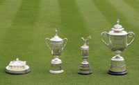 the majors golf trophies