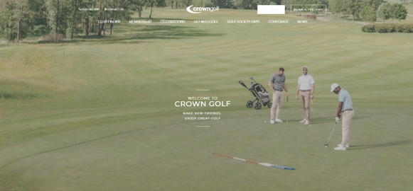 crown golf website